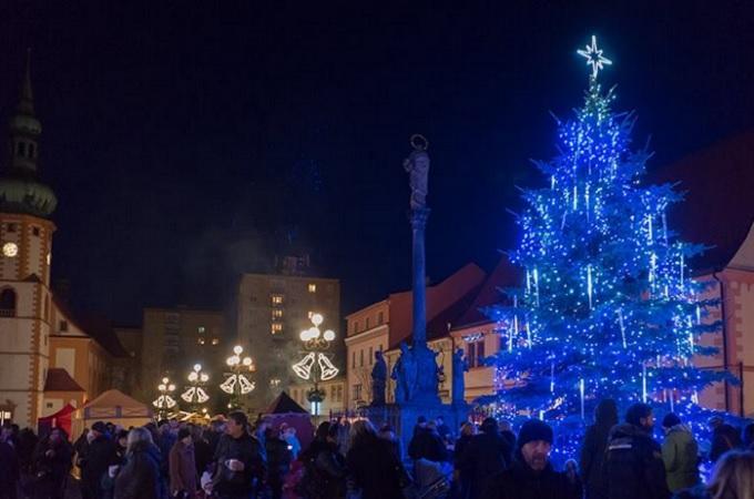 Vánoční strom. Foto: archiv Město Sokolov