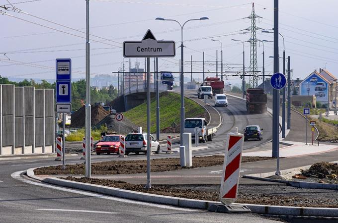 Most na Domažlické ulici v Plzni. Foto: archiv Město Plzeň / Martin Pecuch